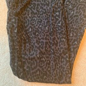 GAP Jeans - Gap cheetah print black denim skinny jeans